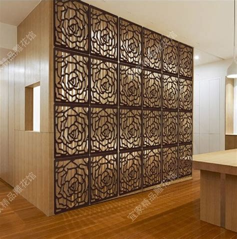 Decorative Partitions - hanging floding screen divider wood carved