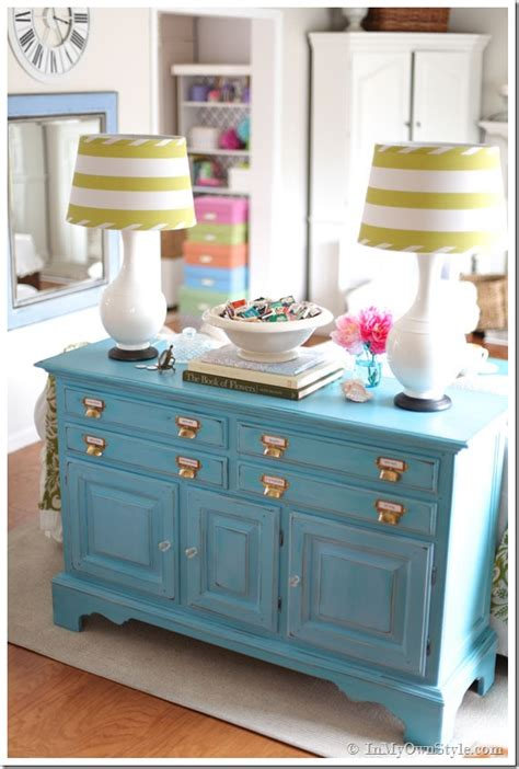 furniture makeover  turquoise