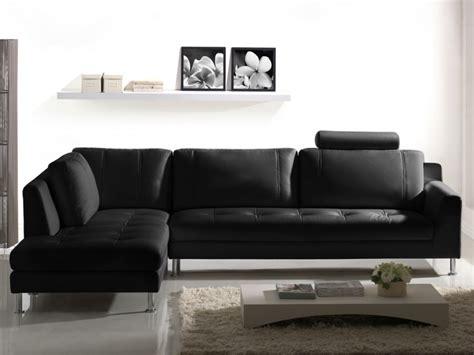 canape cuir vente unique canapé d 39 angle en cuir xl noir gris ou