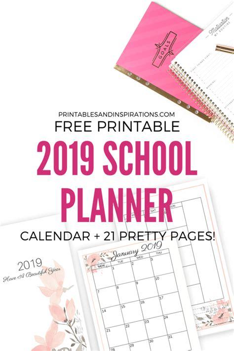 printable planner school updated printables