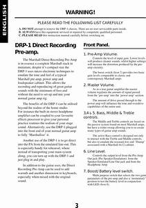 Marshall Drp 1 Users Manual Hbk  English 2