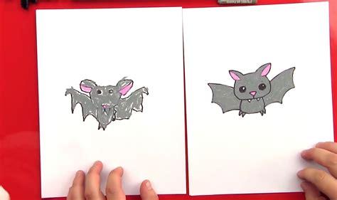 draw  cartoon bat art  kids hub