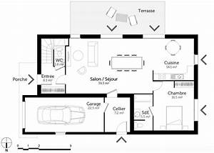 Plan Maison 1 Chambre 1 Salon : plan maison tage 6 chambres ooreka ~ Premium-room.com Idées de Décoration