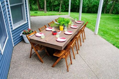 outdoor table ls for porches diy outdoor patio table vintage chairs and screened
