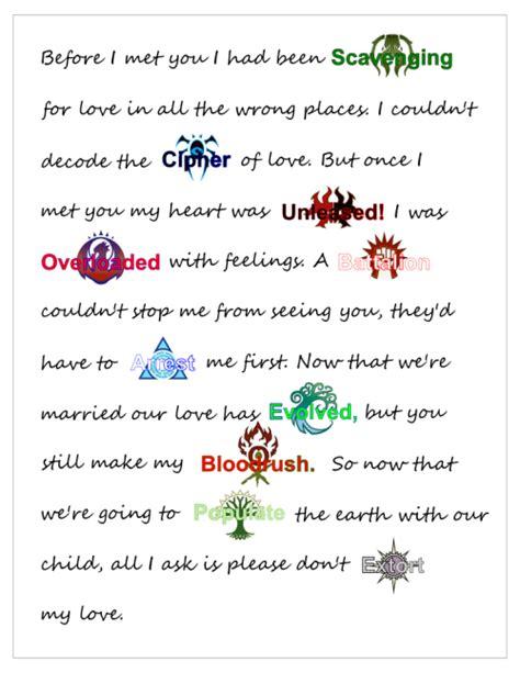 magic memes tasteofmtg  love letter   wife happy