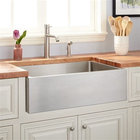 stainless steel farm sinks for kitchens 27 quot optimum stainless steel farmhouse sink kitchen 9393