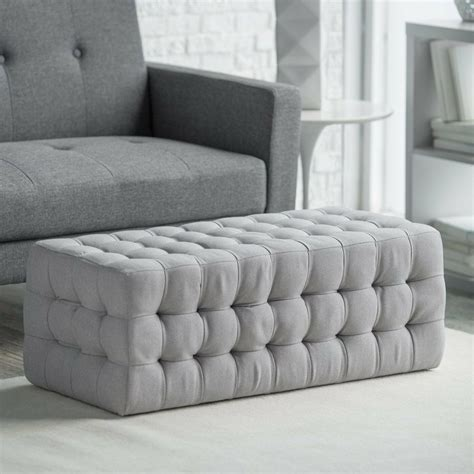 Tufted Chair And Ottoman - tufted ottoman bench stool foot modern chair accent rest