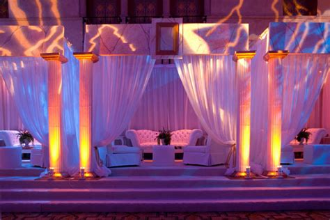 Greek Columns And Faux Marble Decked The Party With Big