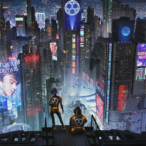 cryto city cyberpunk parallax wallpaper engine