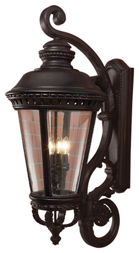 feiss ol1905bk castle black outdoor wall sconce