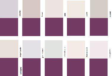 simulateur de peinture chambre nuancier couleur aubergine pour une association avec du