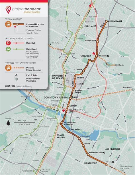 Austin Texas Light Rail Proposal (Project Connect). | How ...