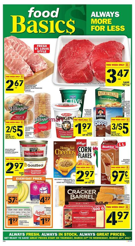 basics of cuisine food basics food basics flyer