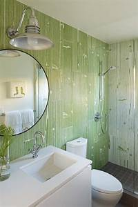 green and white transitional guest bathroom hgtv