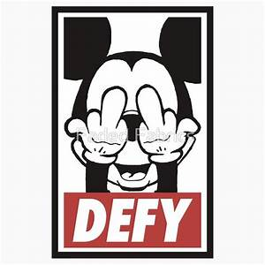Mickey Mouse Obey Logo