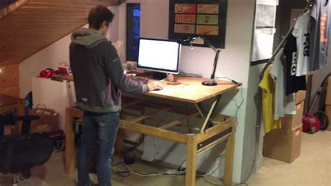 build a standing desk demo 1 diy liftable stand up rising desk table