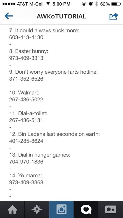 phone numbers to call when bored pranks