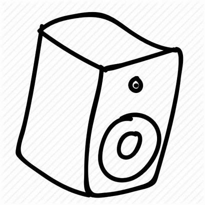 Speaker Drawing Doodle Drawn Gadget Hand Computer