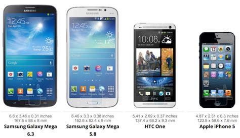 samsung galaxy mega size comparison note ii