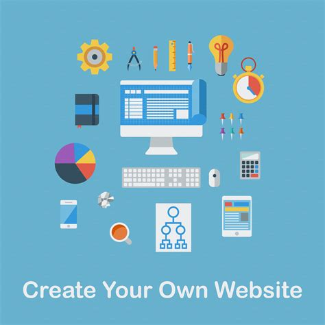design your own website create your own website icons on creative market