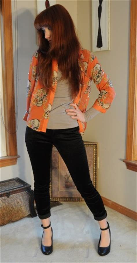 Outfit Ideas Liverpool Velvet Jeans u0026 Skulls - The Fashionable Housewife