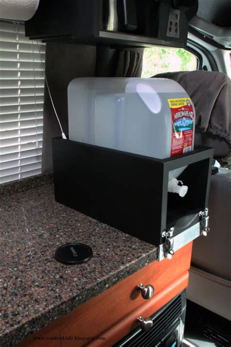 roadtrek modifications mods upgrades and gadgets removable countertop 2 5 gallon water