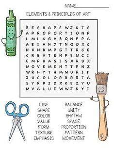 art vocabulary word search art pinterest art art