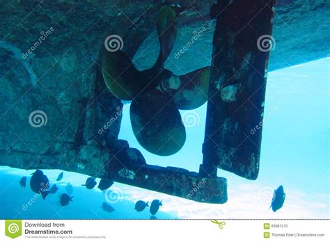 Boat Propeller Underwater by Propeller Of Boat Underwater Stock Photo Image 60981270