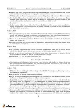 Lösungen Und Tipps Präsenzübungen Blatt 18