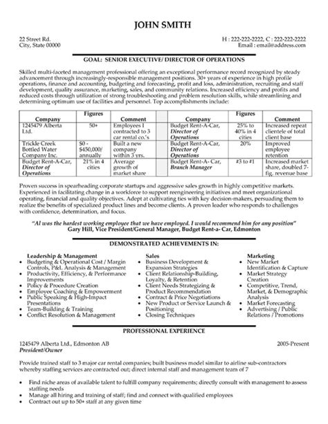 director operations resume sle template
