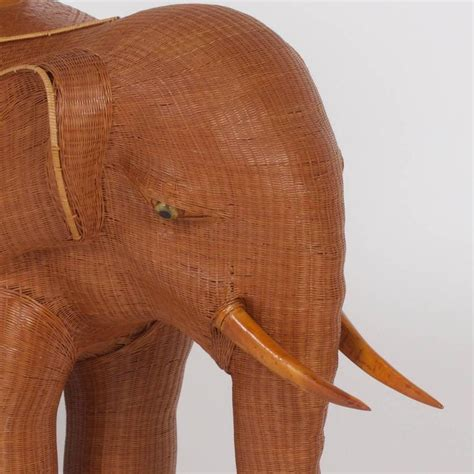 elephant plant stand large large mid century woven wicker elephant plant stand for sale at 1stdibs