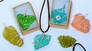 Diy, Wire, Wrapped, Sea, Glass, Pendants