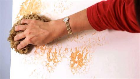 sponge paint  wall paint techniques youtube
