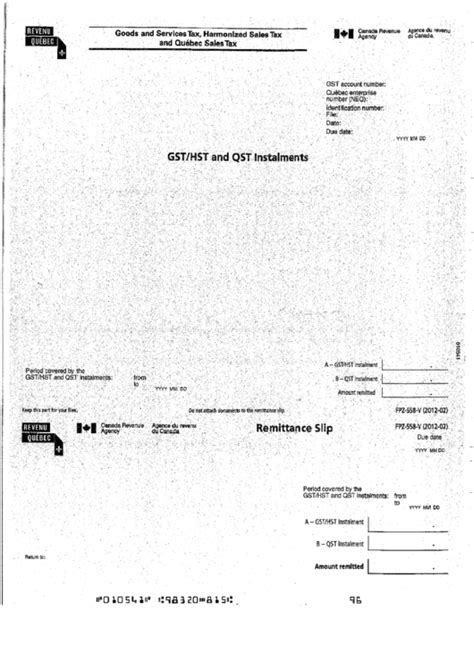 goods and services tax form canada form fpz 558 v goods and services tax harmonized sales