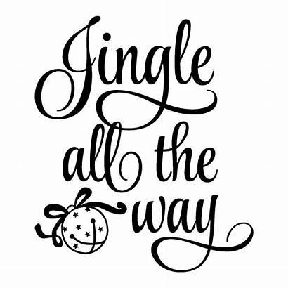 Christmas Quotes Jingle Way Bell Wall Decal