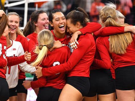 nebraska volleyball record setting husker fans cheer
