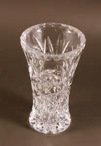 Vintage Cut Glass Crystal Flower Vase