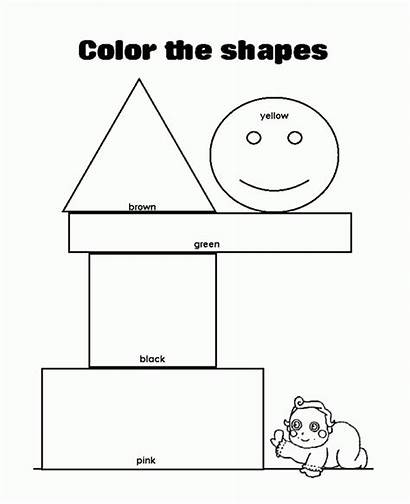 Coloring Forms Shapes Types Pages Easy Various