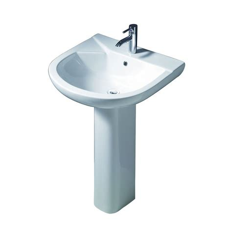 barclay products anabel 555 pedestal combo bathroom sink