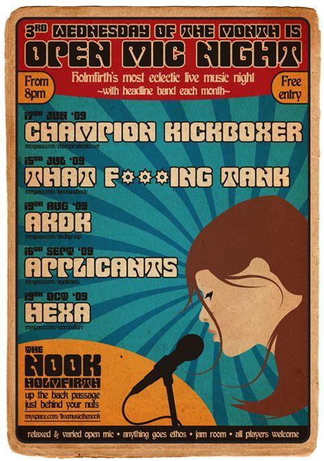 foto de The Nook Open Mic Poster June October Owen Phillips