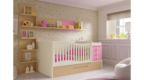 chambre evolutive bebe lit bébé fille 2 évolutif bc30 avec étagère déco