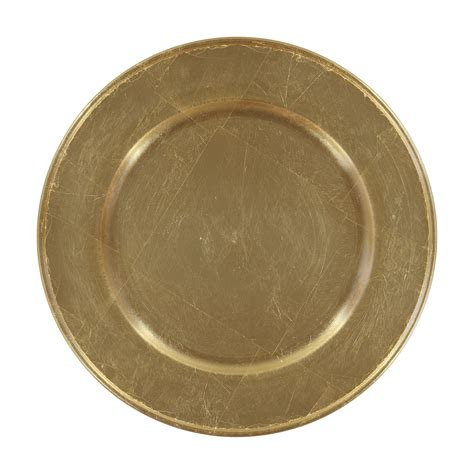 Vintageeffect Gold Plastic Charger Plate Coincasa