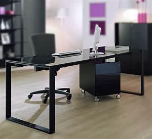 Schreibtisch Glasplatte Schwarz : maxim schreibtisch in schwarz von reinhard g nstig buerado ~ Markanthonyermac.com Haus und Dekorationen