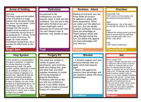 d d spell templates dungeons and dragons d d 5e spell cards printable