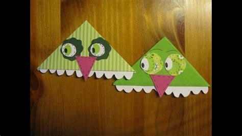 basteln mit papier eulen lesezeichen basteln
