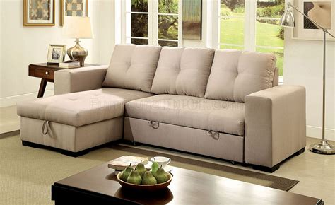 Loveseat Sectional Sofa by Denton Sectional Sofa Cm6149iv In Ivory Fabric W Sleeper