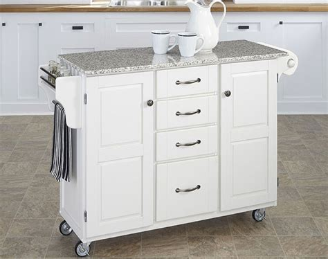 Marble Top Kitchen Island On Wheels by White Kitchen Island With Granite Top 6 Pros Cons