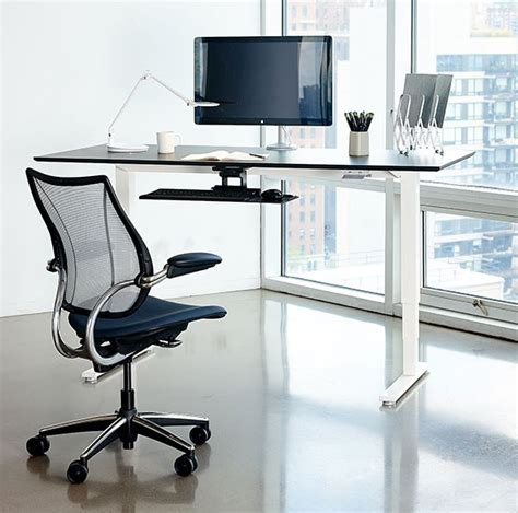 humanscale standing desk humanscale float table stand up desk review