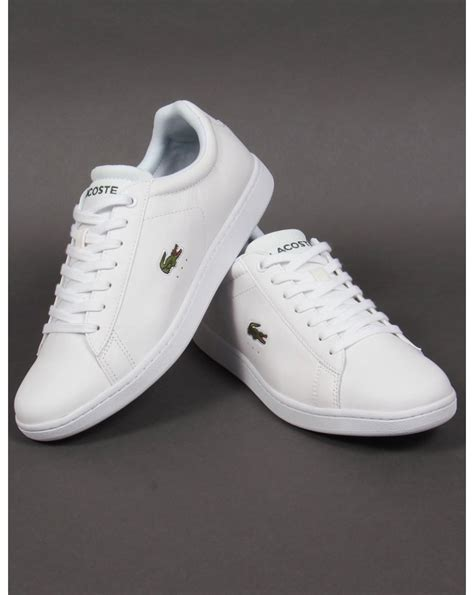 lacoste carnaby evo trainers whitegreen crocshoesmens