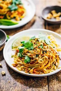 Rainbow Vegetarian Pad Thai with Peanuts and Basil Recipe ...